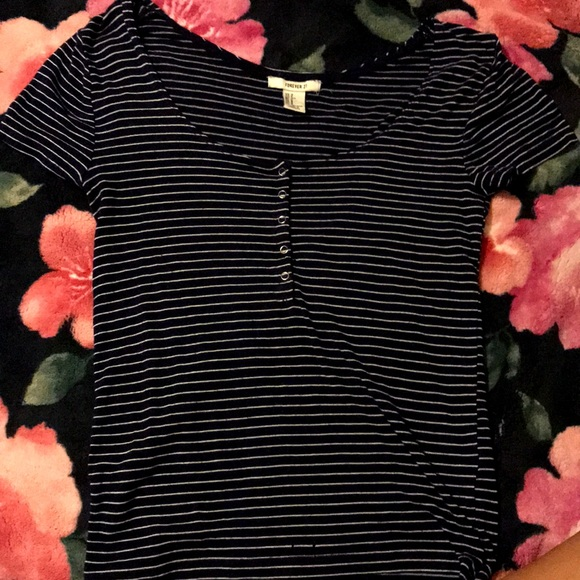 Forever 21 Tops - Blue striped shirt